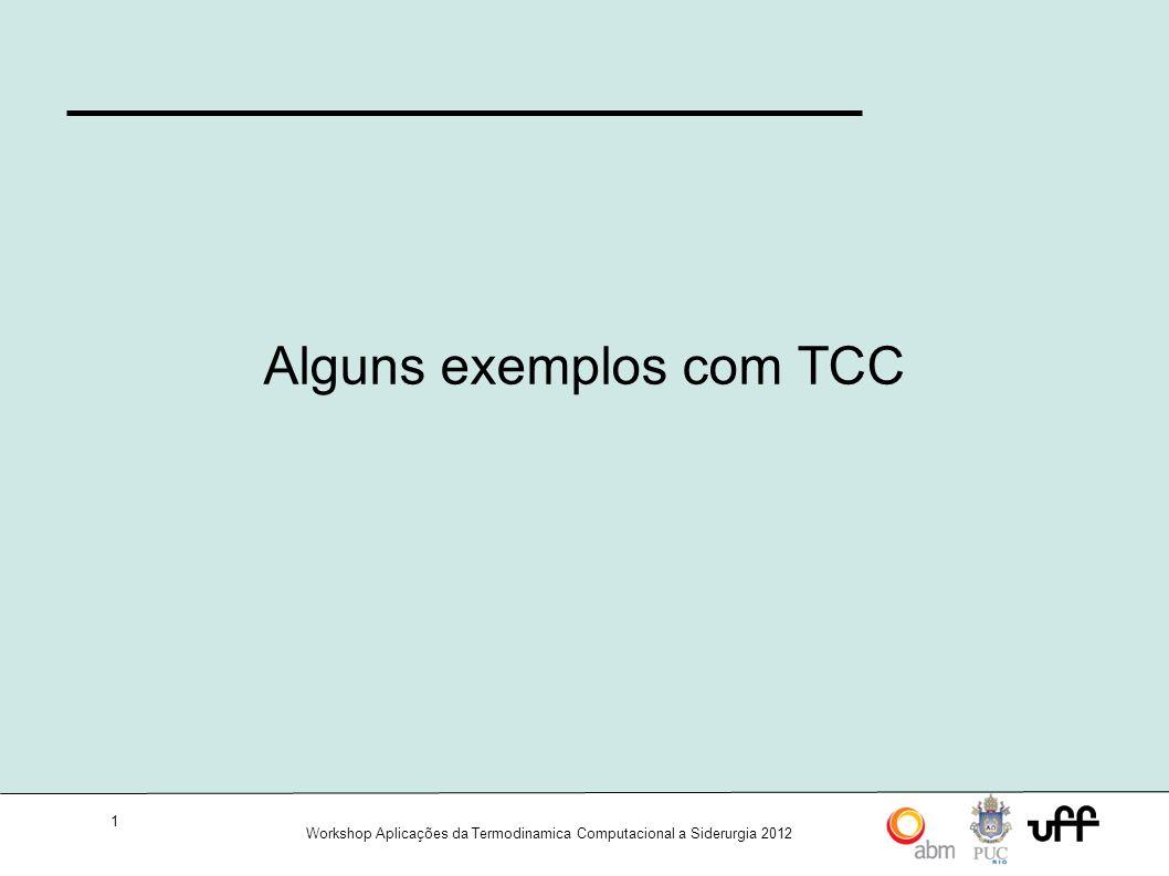 Alguns exemplos com TCC