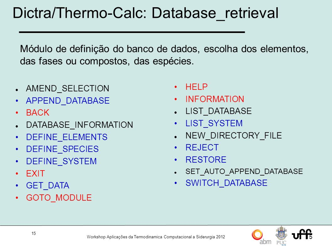 Dictra/Thermo-Calc: Database_retrieval