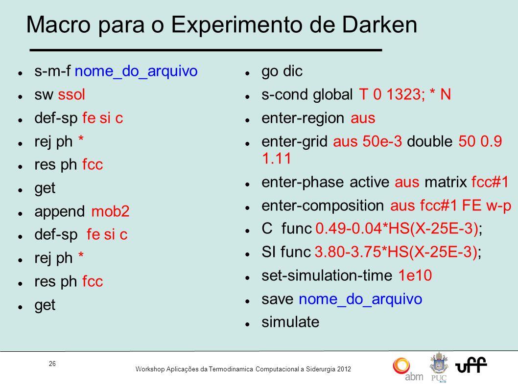 Macro para o Experimento de Darken