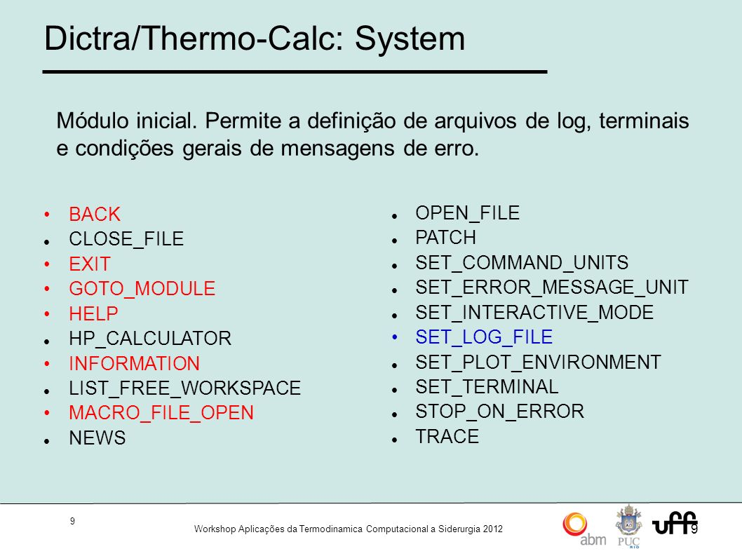 Dictra/Thermo-Calc: System