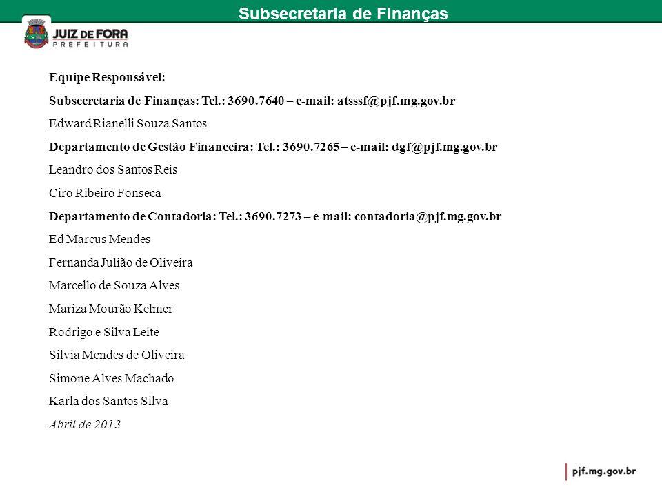 Subsecretaria de Finanças