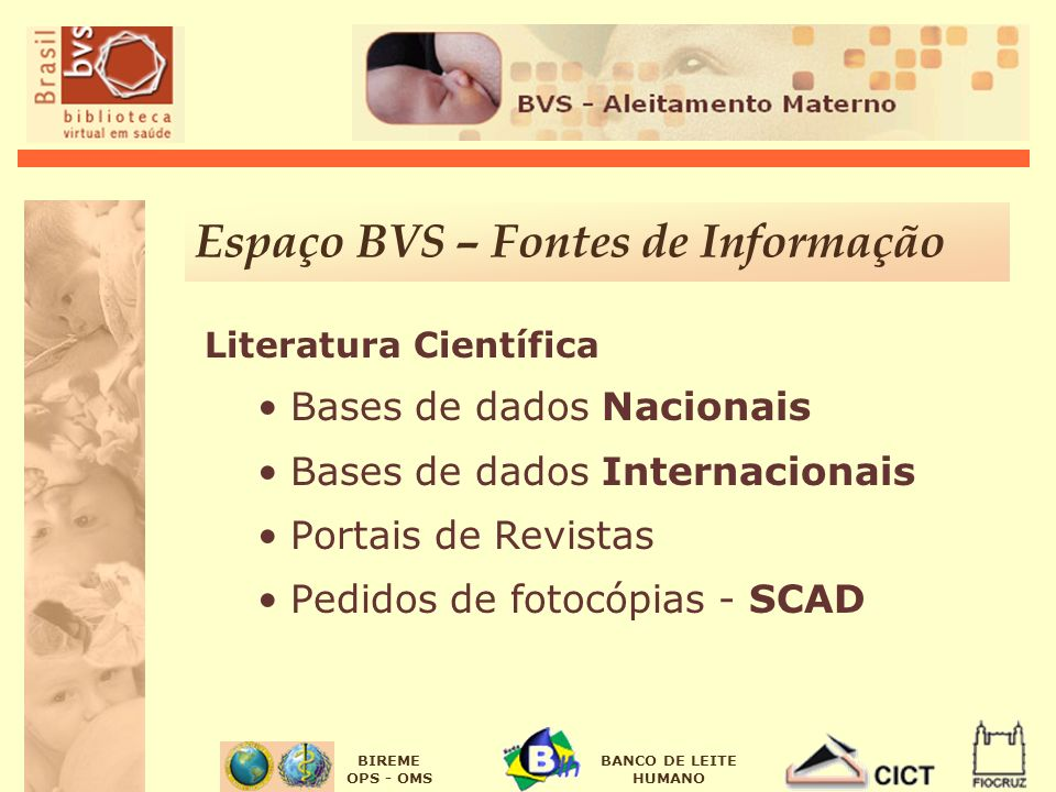 Espaço BVS – Fontes de Informação