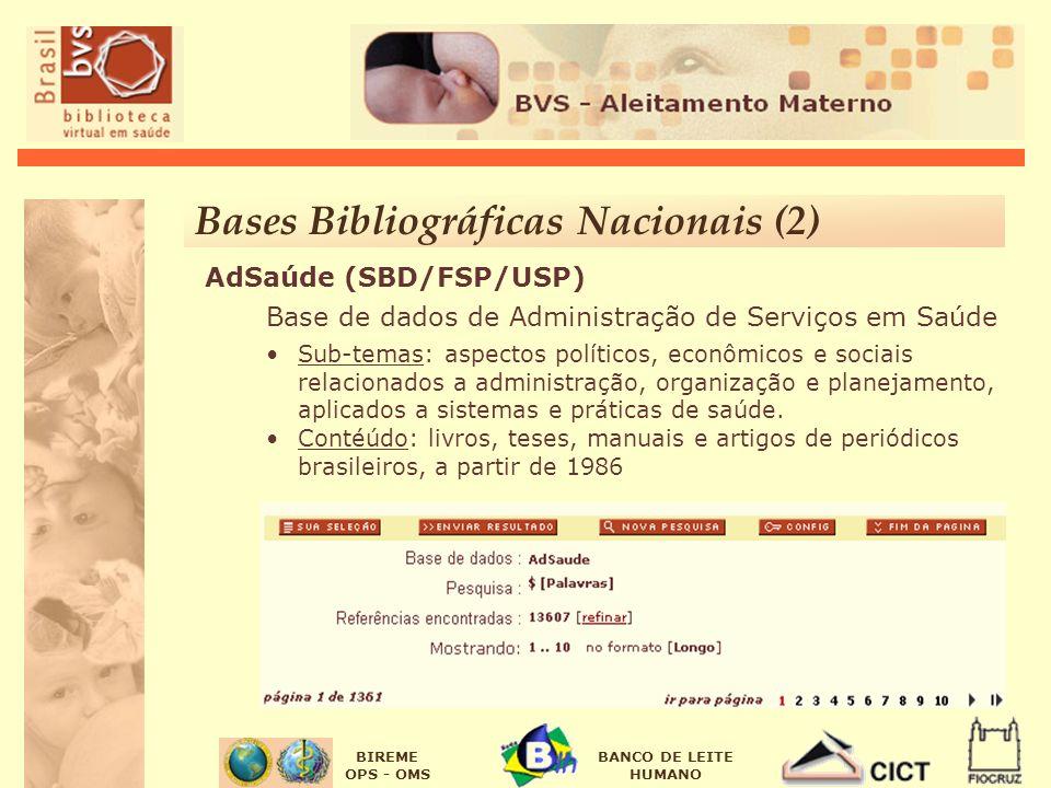 Bases Bibliográficas Nacionais (2)