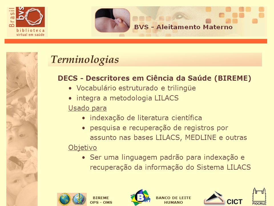 Terminologias DECS - Descritores em Ciência da Saúde (BIREME)