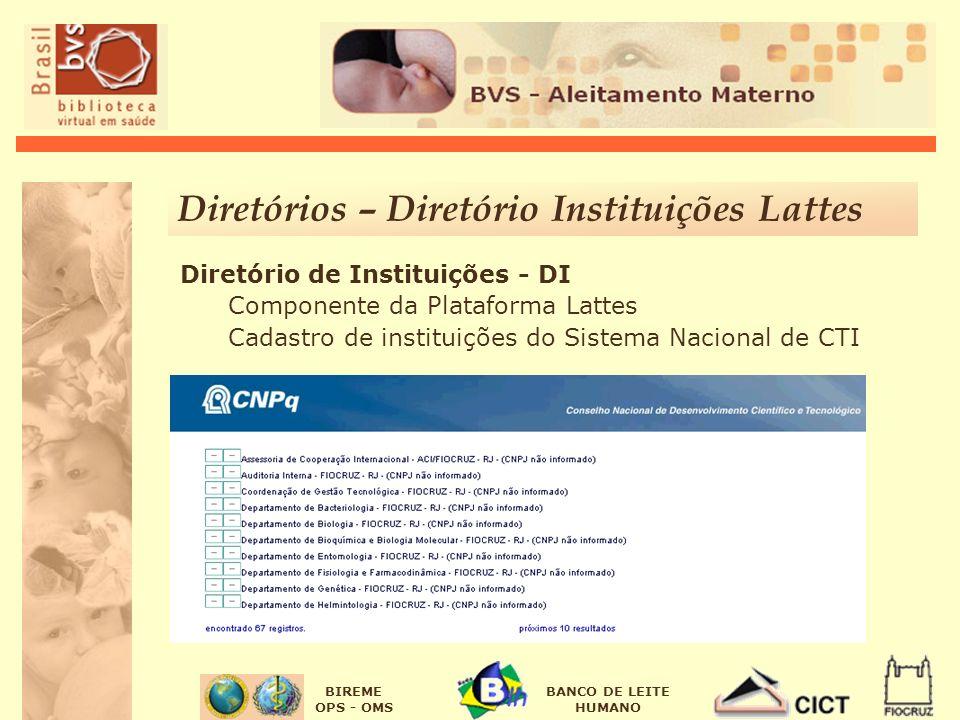 Diretórios – Diretório Instituições Lattes