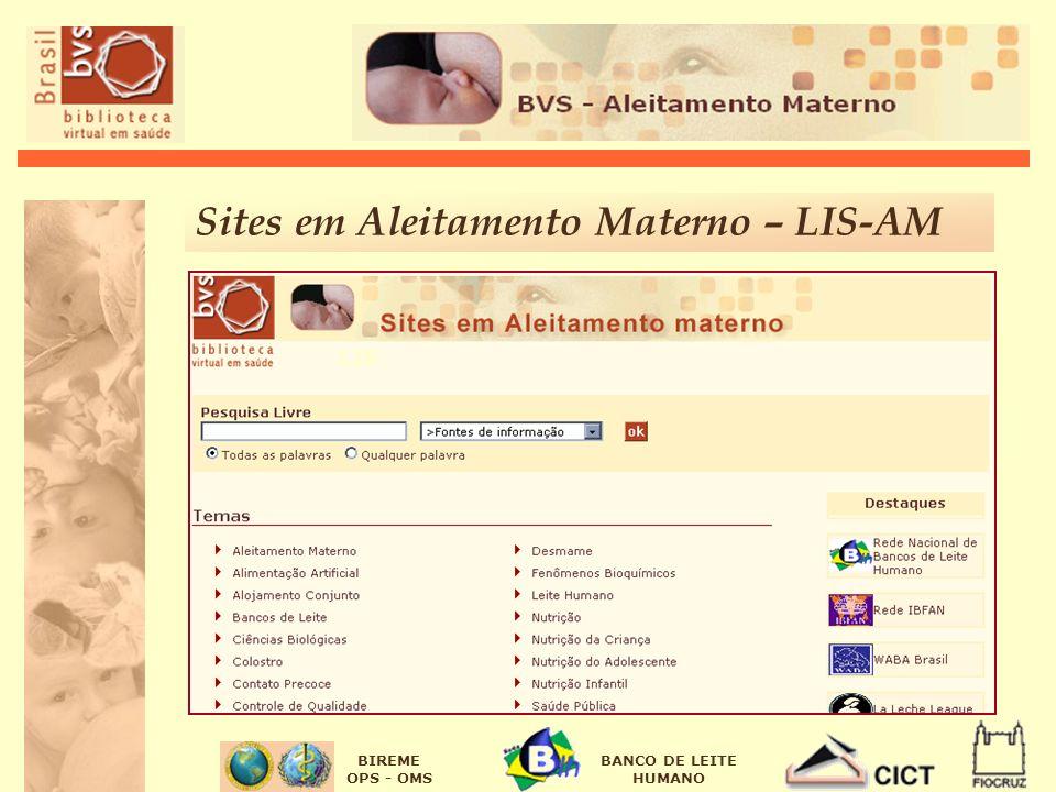 Sites em Aleitamento Materno – LIS-AM