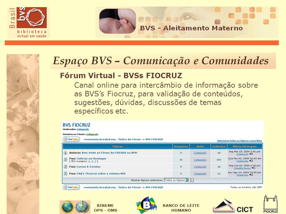 Espaço BVS – Comunicação e Comunidades