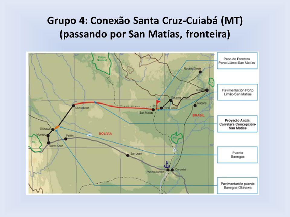 Grupo 4: Conexão Santa Cruz-Cuiabá (MT) (passando por San Matías, fronteira)