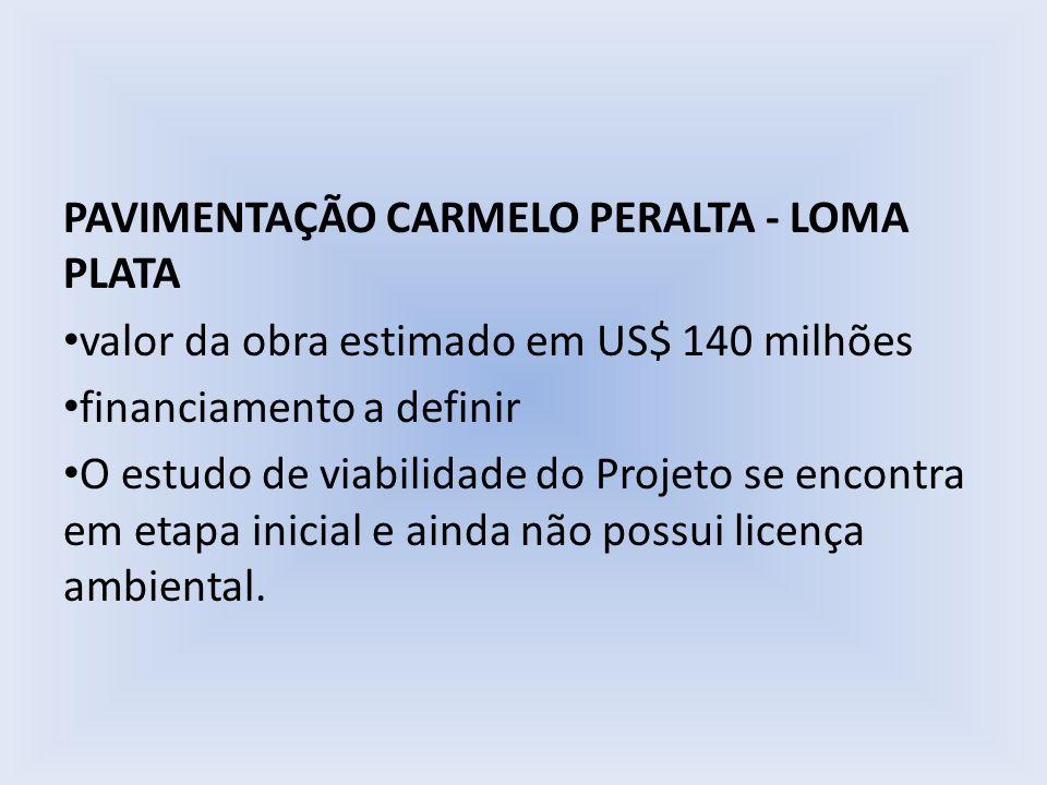 PAVIMENTAÇÃO CARMELO PERALTA - LOMA PLATA