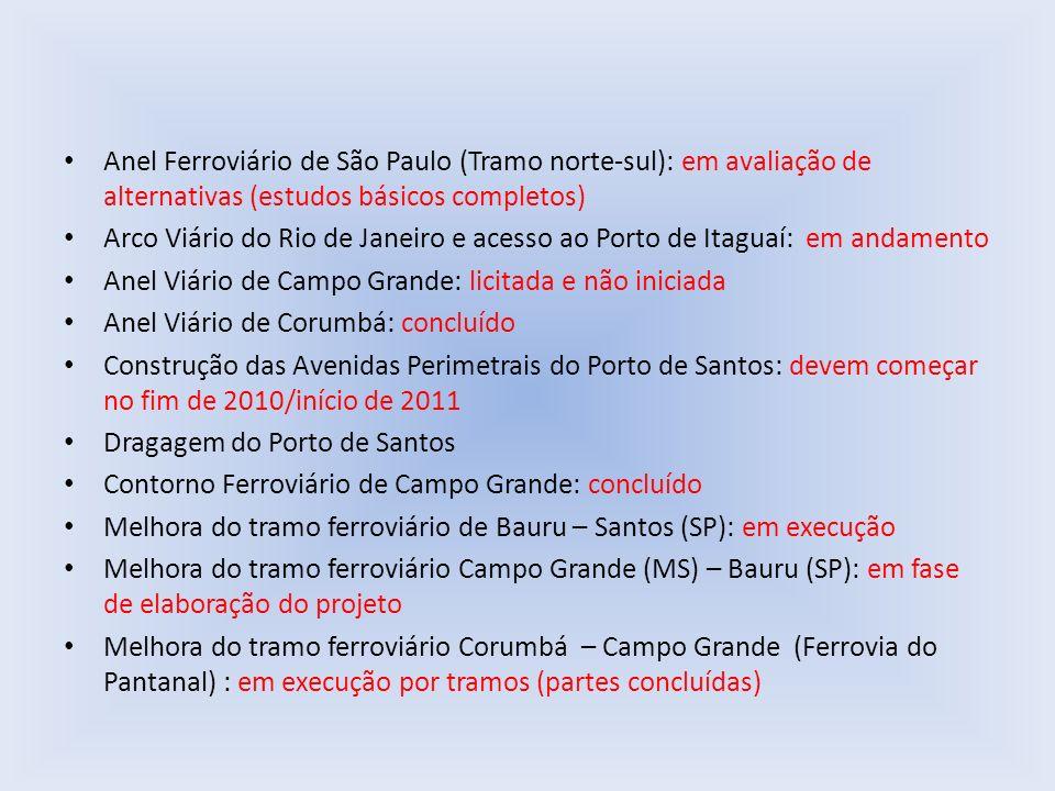 Anel Ferroviário de São Paulo (Tramo norte-sul): em avaliação de alternativas (estudos básicos completos)