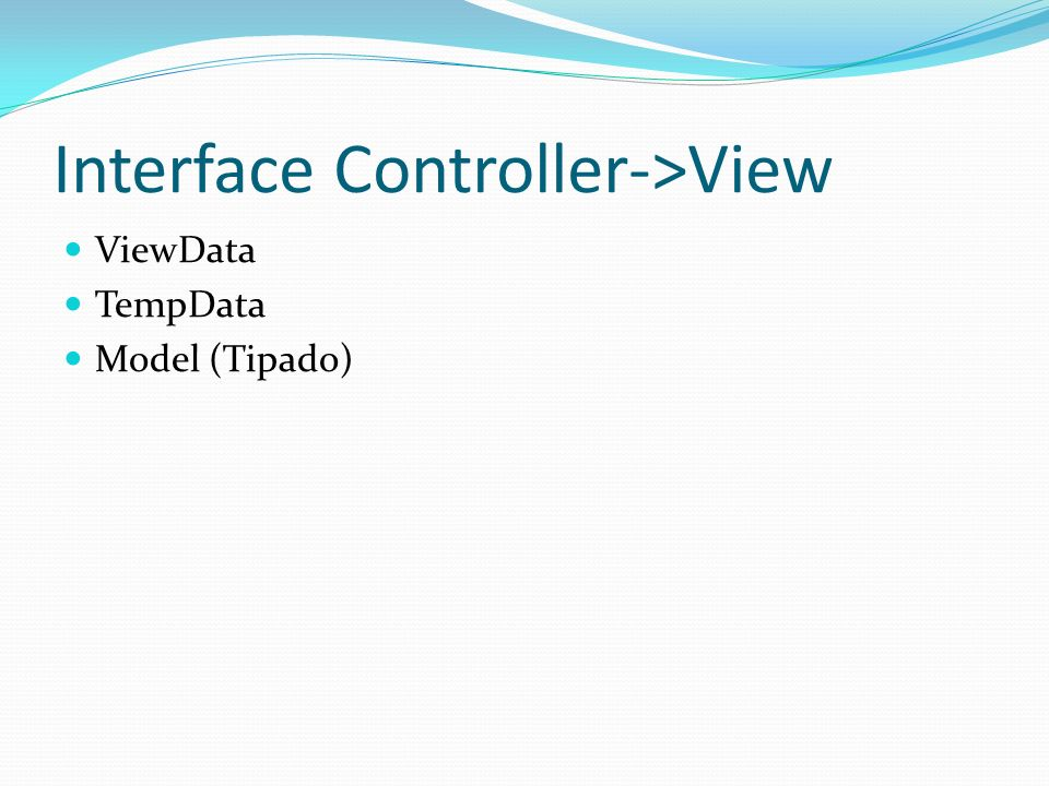 Interface Controller->View