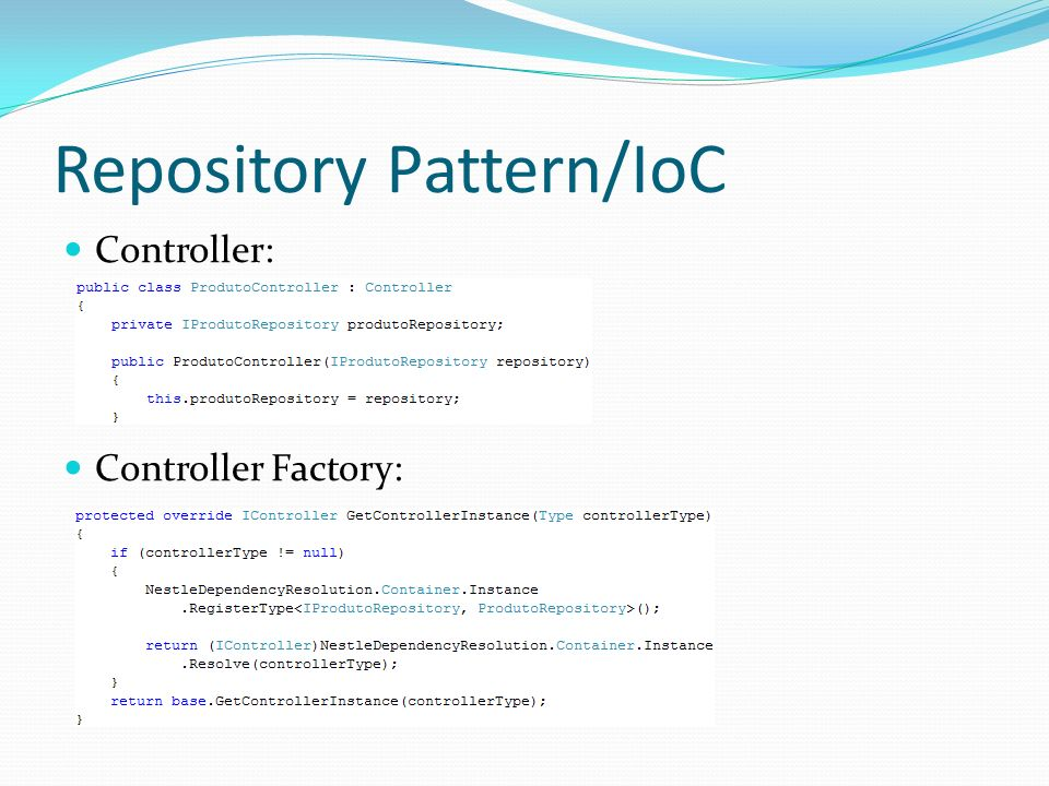 Repository Pattern/IoC