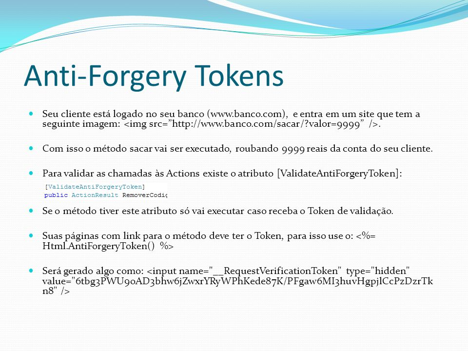 Anti-Forgery Tokens