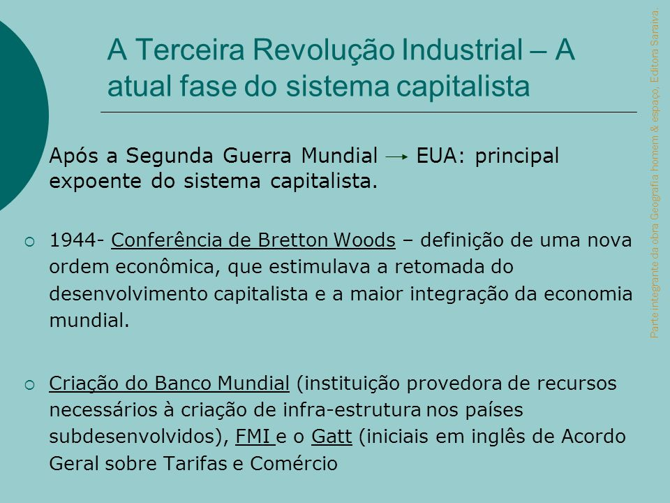 A Terceira Revolução Industrial – A atual fase do sistema capitalista
