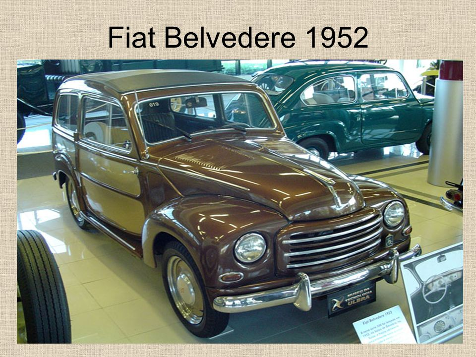 Fiat Belvedere 1952