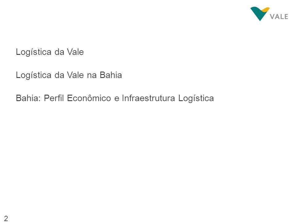 Logística da Vale na Bahia