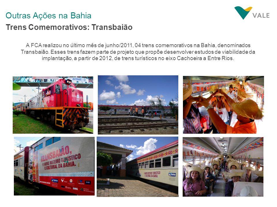 Outras Ações na Bahia Trens Comemorativos: Transbaião