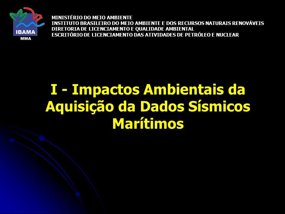 I - Impactos Ambientais da Aquisição da Dados Sísmicos Marítimos