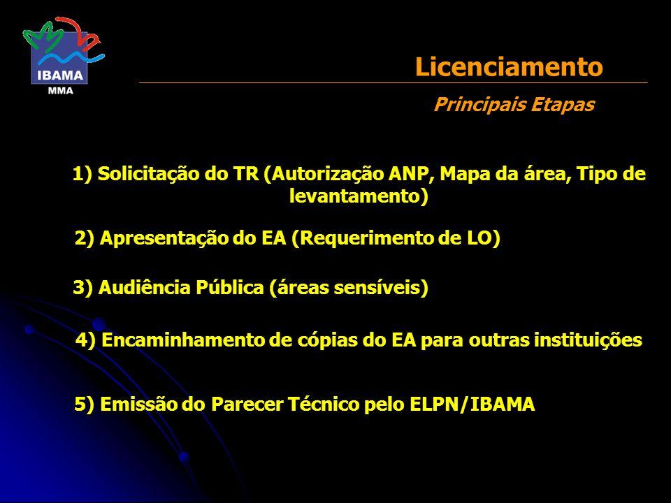 Licenciamento Principais Etapas