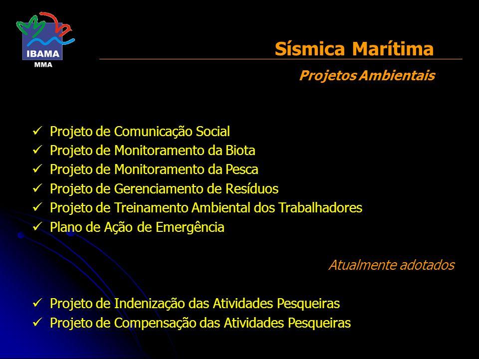 Sísmica Marítima Projetos Ambientais