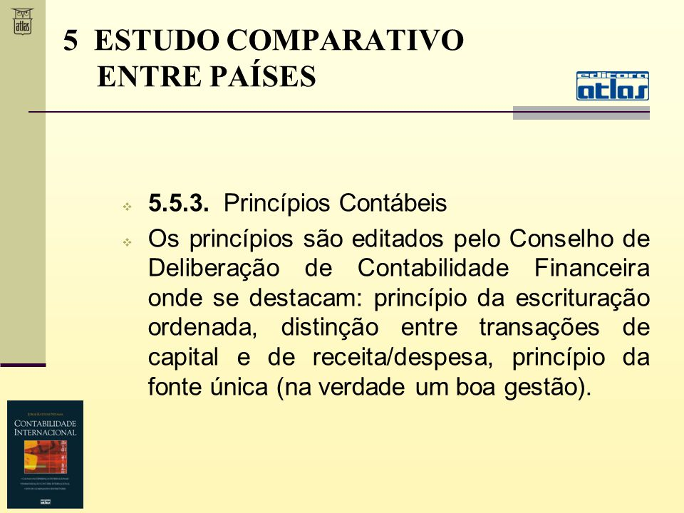 5 ESTUDO COMPARATIVO ENTRE PAÍSES
