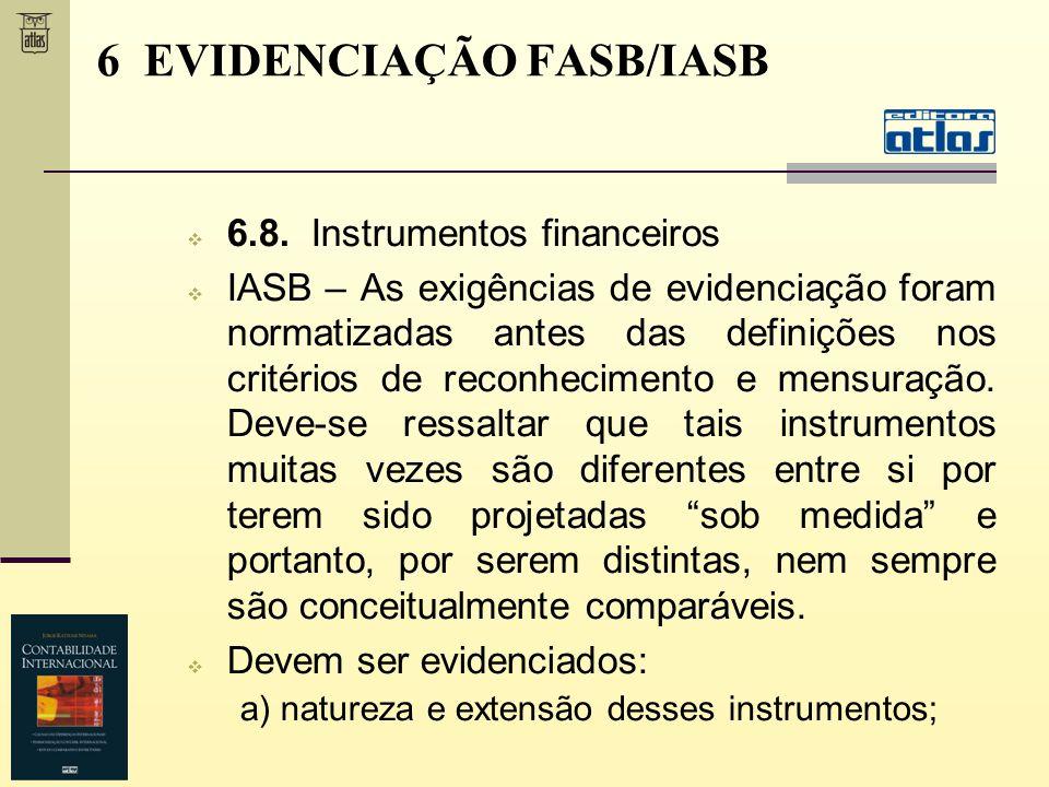 6 EVIDENCIAÇÃO FASB/IASB