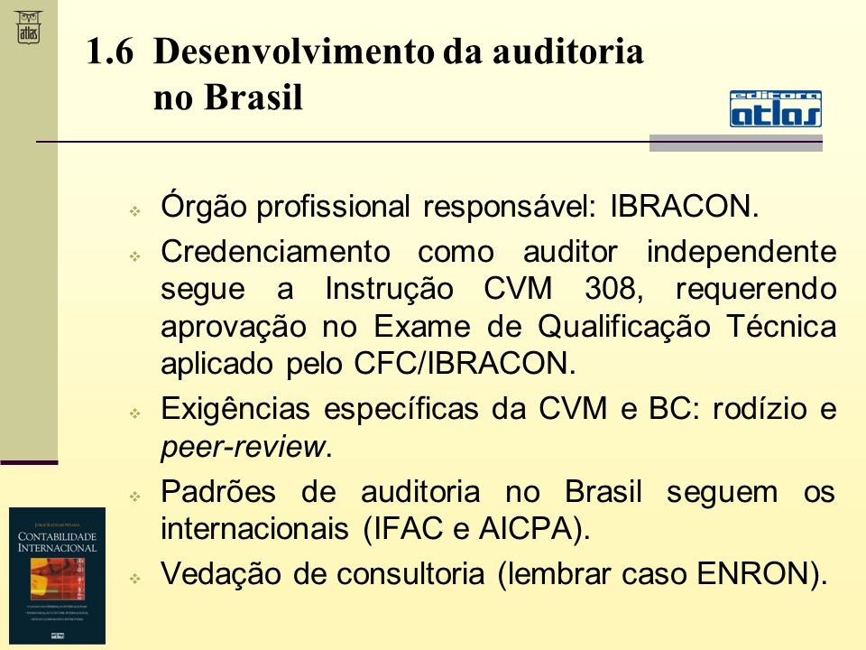 1.6 Desenvolvimento da auditoria no Brasil