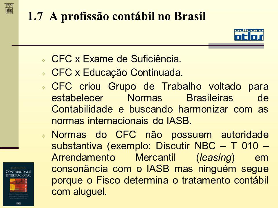 1.7 A profissão contábil no Brasil