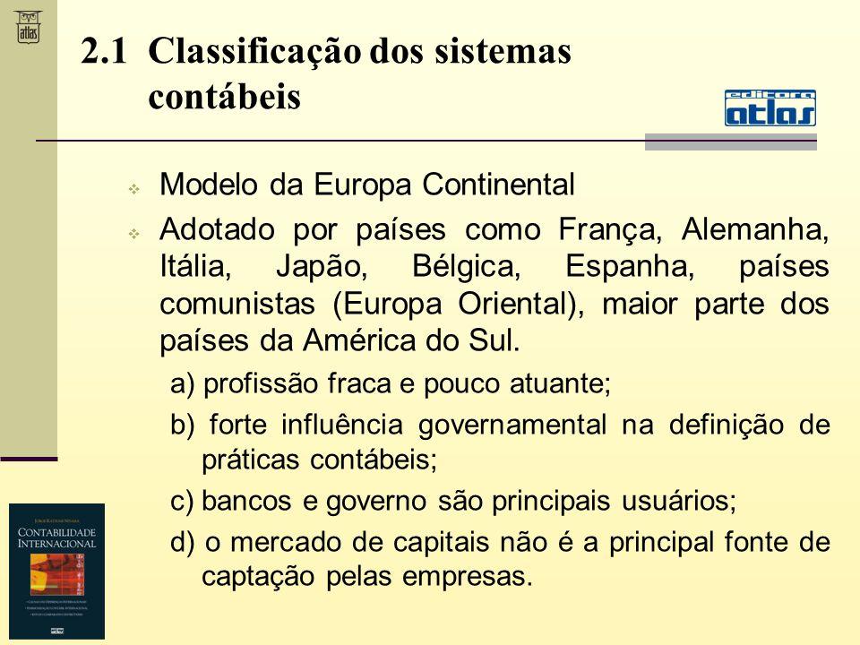 2.1 Classificação dos sistemas contábeis