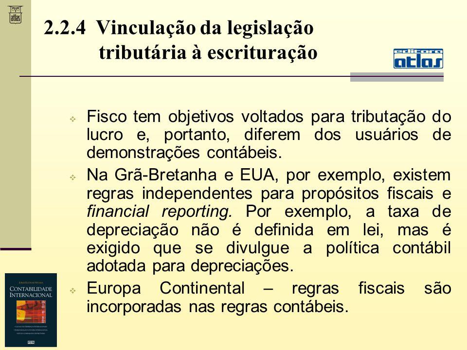 2.2.4 Vinculação da legislação tributária à escrituração