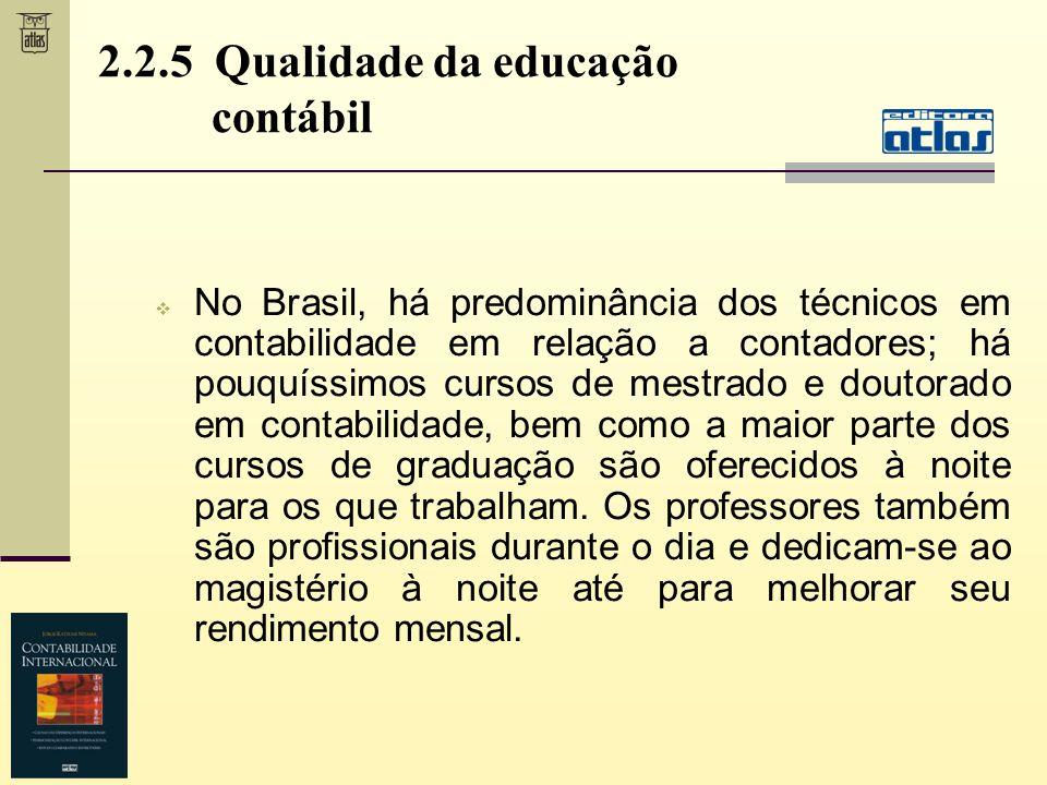 2.2.5 Qualidade da educação contábil