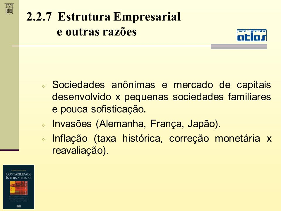 2.2.7 Estrutura Empresarial e outras razões