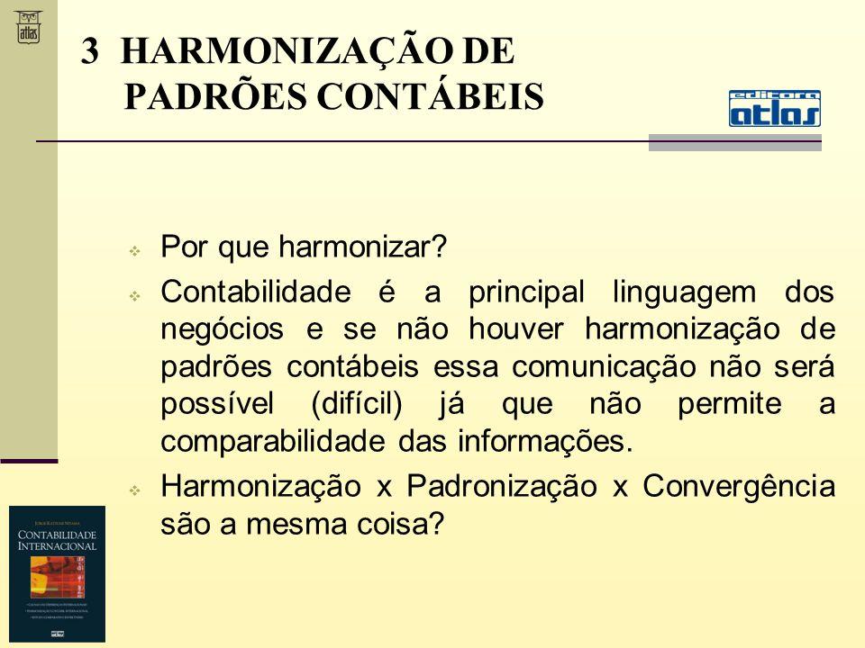 3 HARMONIZAÇÃO DE PADRÕES CONTÁBEIS