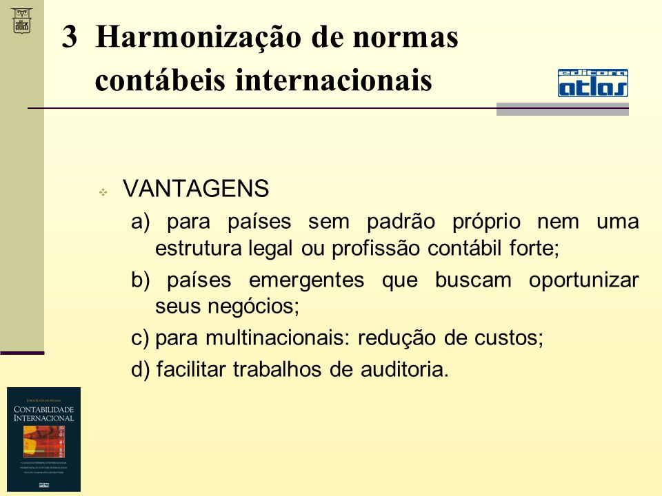 3 Harmonização de normas contábeis internacionais