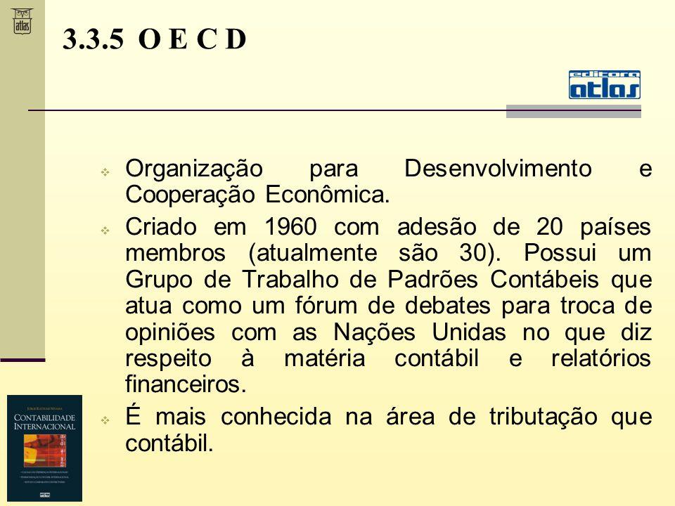 3.3.5 O E C D Organização para Desenvolvimento e Cooperação Econômica.