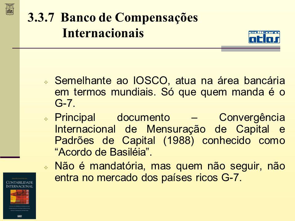 3.3.7 Banco de Compensações Internacionais