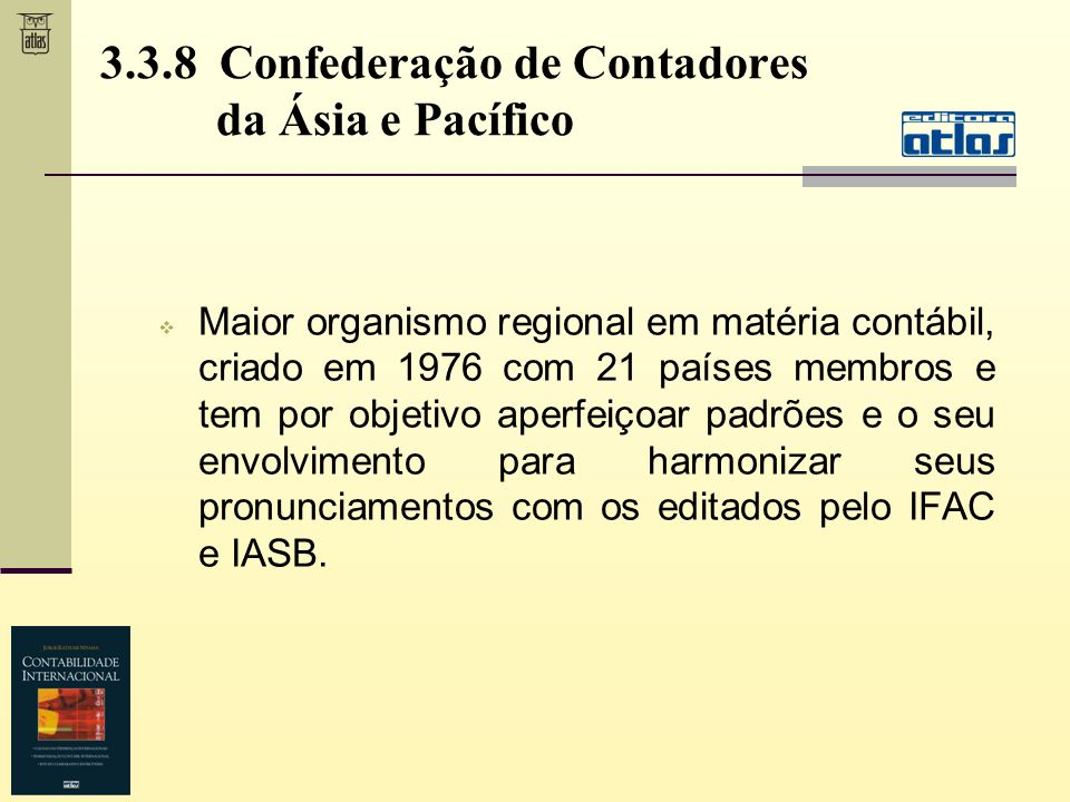 3.3.8 Confederação de Contadores da Ásia e Pacífico
