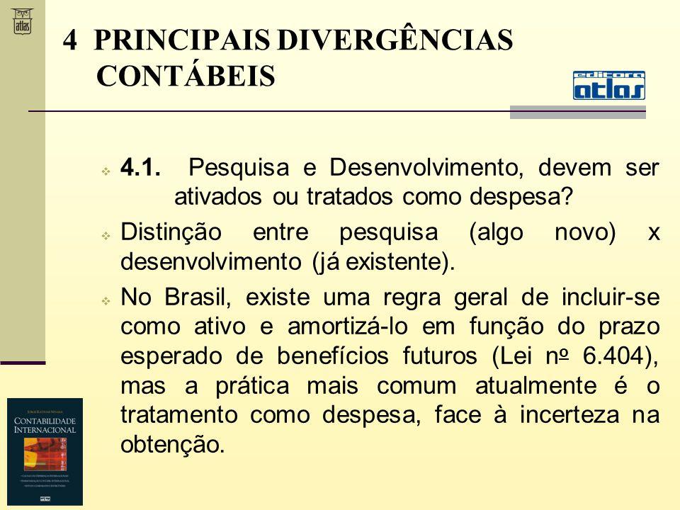 4 PRINCIPAIS DIVERGÊNCIAS CONTÁBEIS