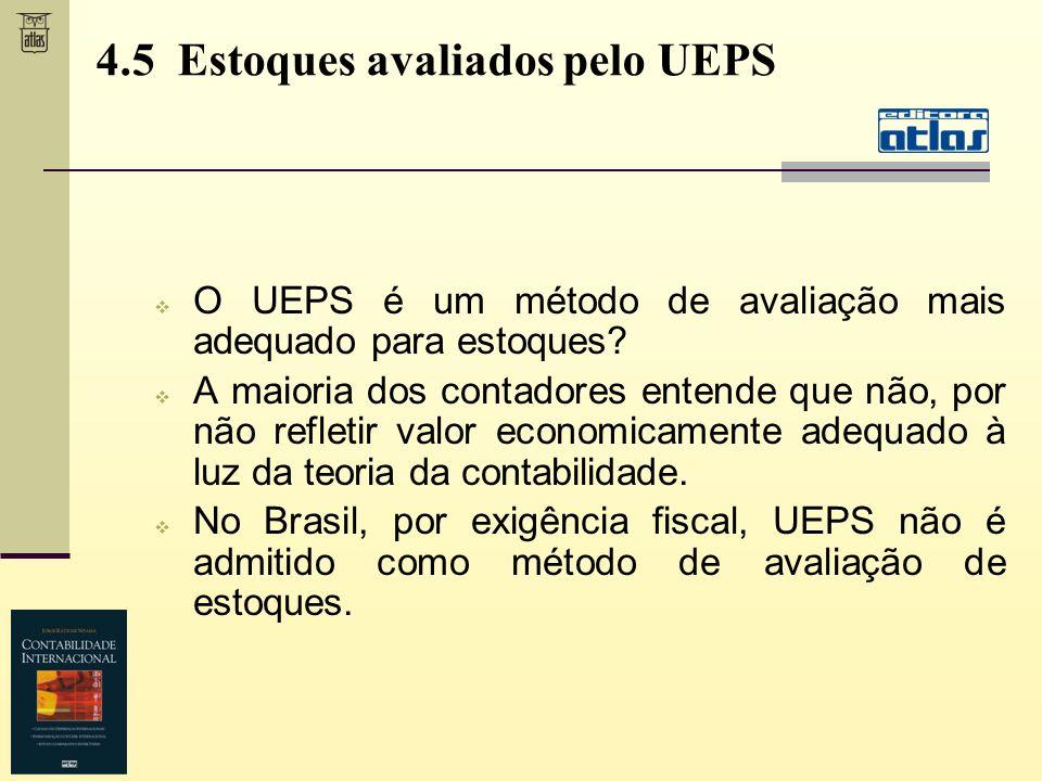 4.5 Estoques avaliados pelo UEPS
