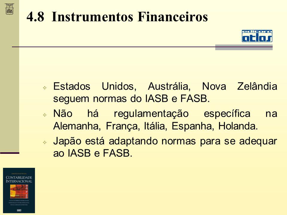 4.8 Instrumentos Financeiros