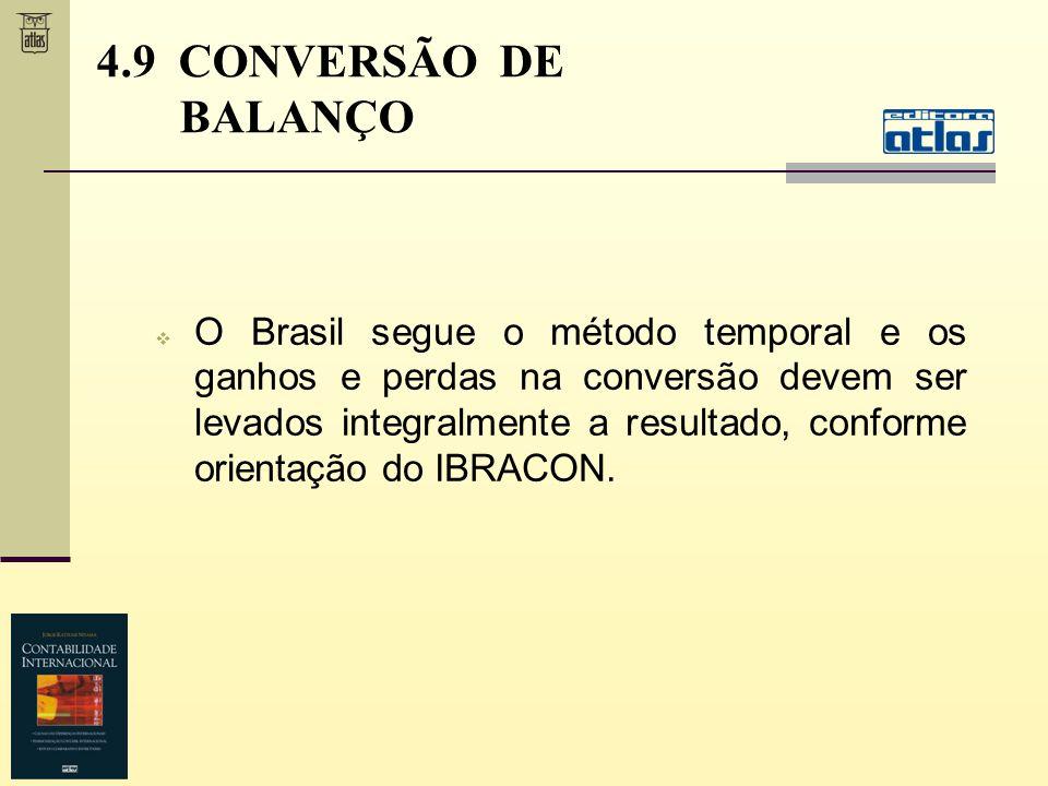 4.9 CONVERSÃO DE BALANÇO