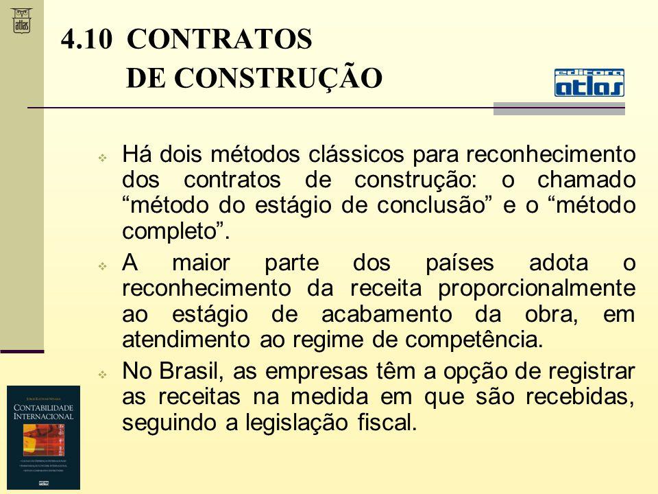4.10 CONTRATOS DE CONSTRUÇÃO