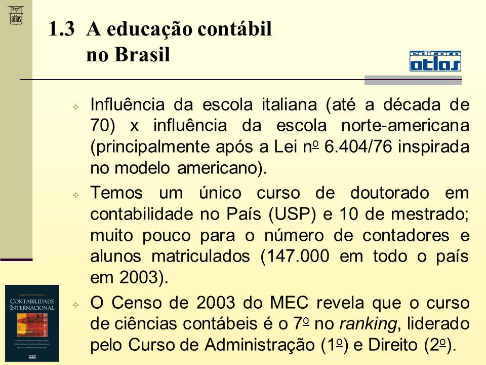 1.3 A educação contábil no Brasil