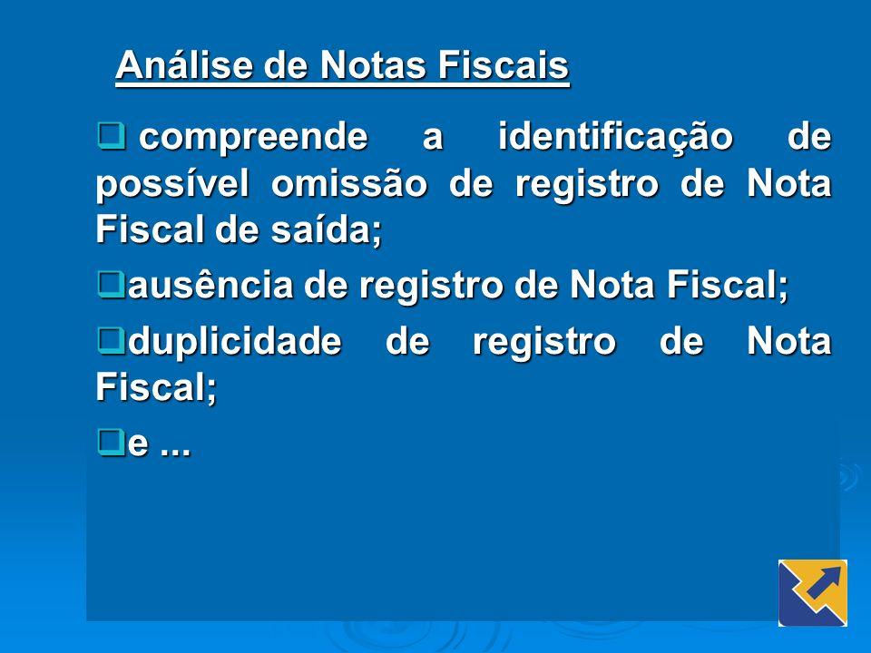 Análise de Notas Fiscais