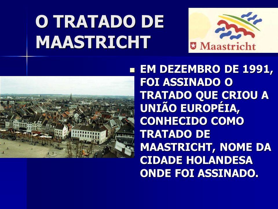 O TRATADO DE MAASTRICHT