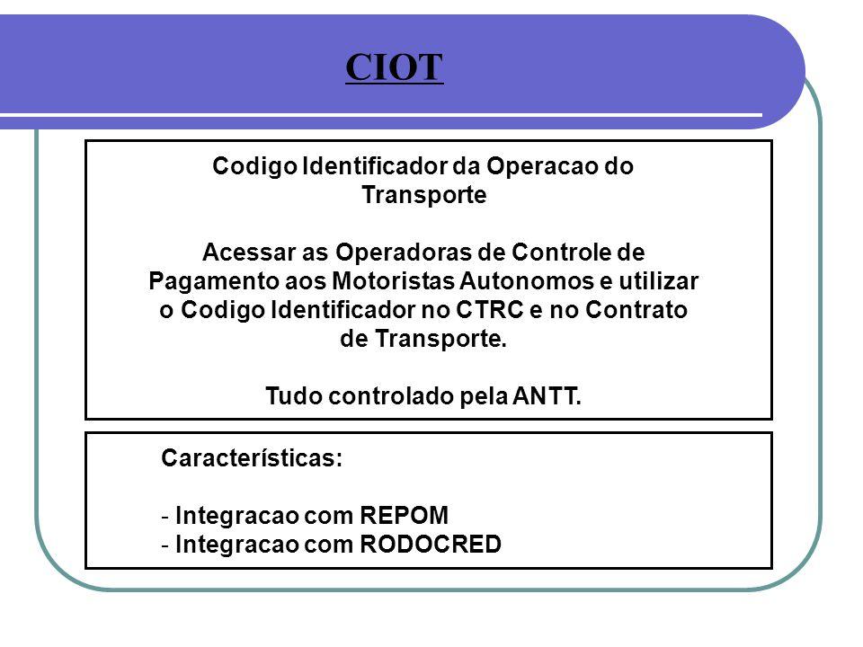 CIOT Codigo Identificador da Operacao do Transporte