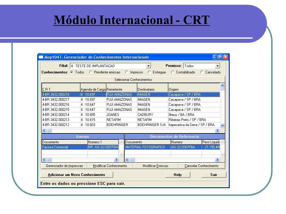 Módulo Internacional - CRT