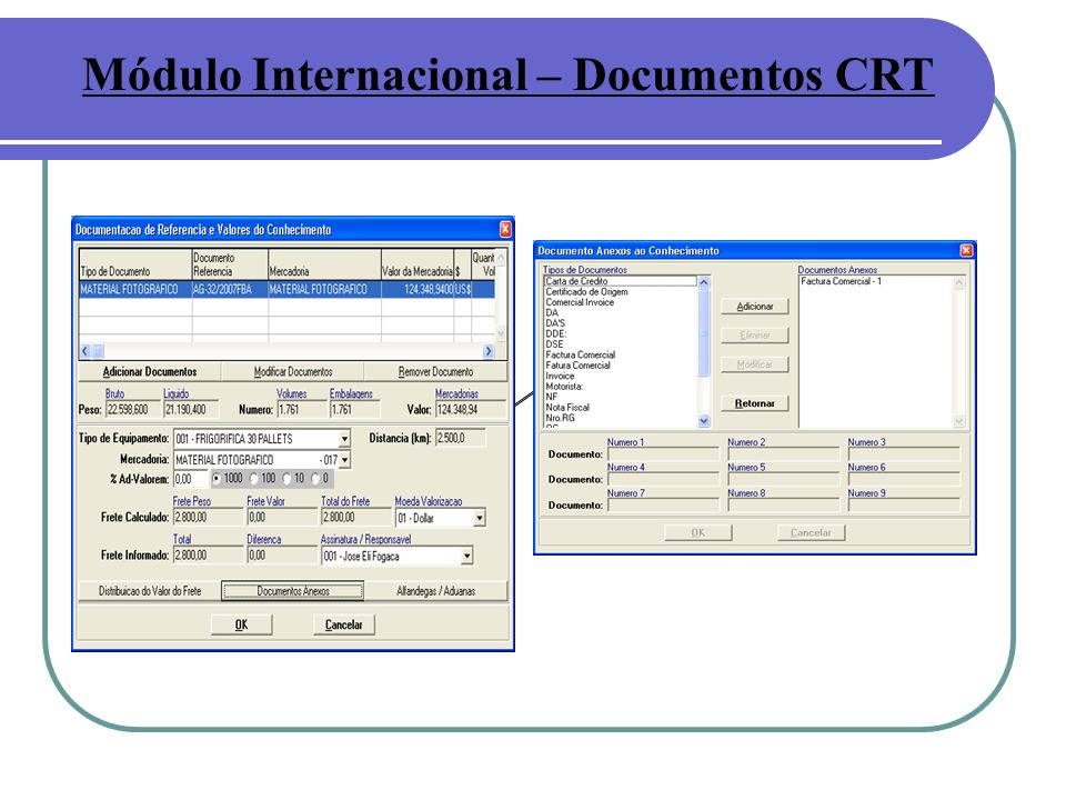 Módulo Internacional – Documentos CRT
