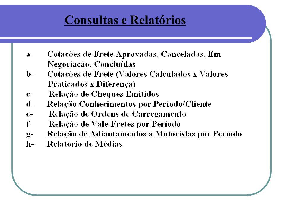 Consultas e Relatórios
