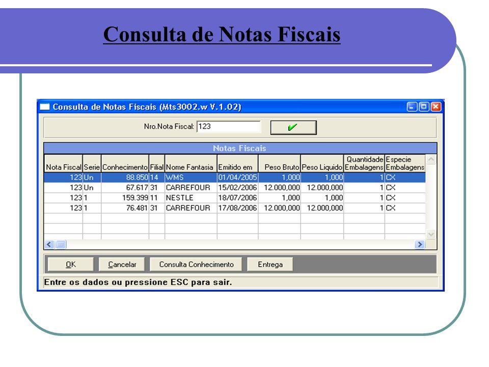 Consulta de Notas Fiscais